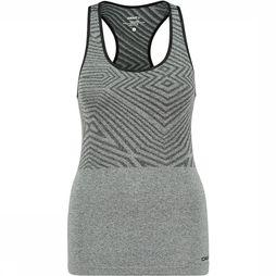 Craft Cool Comfort She Racerback Top Dames Zwart/Middengrijs