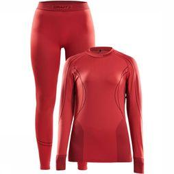 Craft Baselayer Seamless Zone Thermo Set Dames Donkerroze/Zalmroze