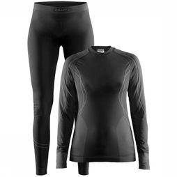 Craft Baselayer Seamless Zone Thermo Set Dames Zwart