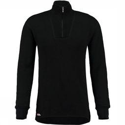 Woolpower Zip Turtleneck 400 Zwart
