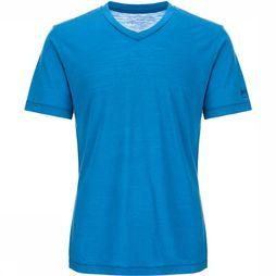 Supernatural Base V-Neck 140 T-Shirt Blauw/Koningsblauw