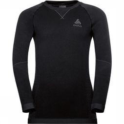 Odlo Performance Warm Shirt Junior Zwart/Donkergrijs