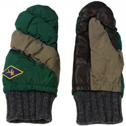 Elmer Gloves Mitton Down Pack Want Donkergroen/Donkergrijs