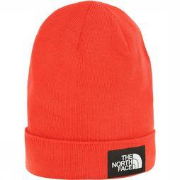 The North Face Gerecyclede Dock Worker Beanie Rood/Zwart