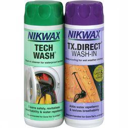 Nikwax Twin Set Tech Wash 300ml en Direct Wash-in 300ml Geen kleur