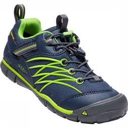Keen Chandler CNX WP Youth Schoen Junior Donkerblauw/Lichtgroen