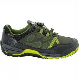 Jack Wolfskin Jungle Gym Texapore Low Schoen Junior Lime/Donkergrijs