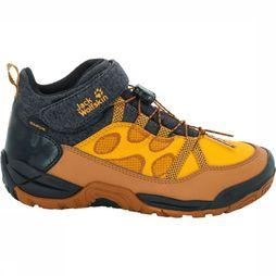 Jack Wolfskin Jungle Gym Texapore Mid K Schoen Junior Oranje/Donkergrijs