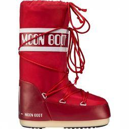 Moon Boot Nylon Winterschoen Rood