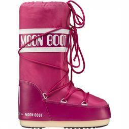 Moon Boot Nylon Sneeuwschoen Junior Middenroze