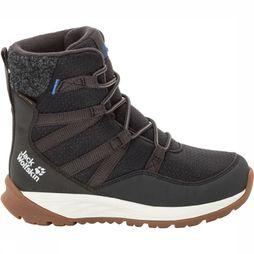 Jack Wolfskin Polar Bear Texapore High Winterschoen Junior Donkergrijs/Gebroken Wit