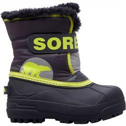 Sorel Snow Commander Winterlaars Junior Zwart/Middengrijs