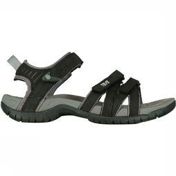 Teva Tirra Leather Sandaal Dames Zwart