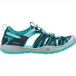 Keen Moxie Youth Sandaal Junior Donkerblauw/Turkoois