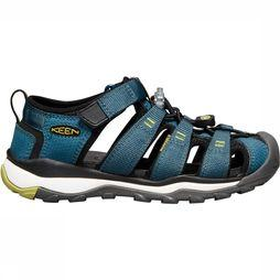 Keen Newport Neo H2 Youth Sandaal Junior Middenblauw/Lichtgroen