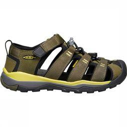 Keen Newport Neo H2 Youth Sandaal Junior Donkerkaki/Middengroen