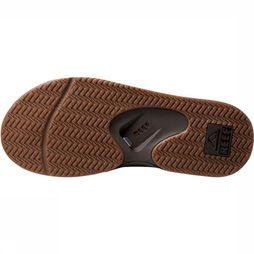 Reef Leather Fanning Slipper  Brons