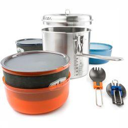 GSI Outdoors Glacier Stainless Dualist Pannenset Middengrijs