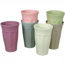 Zuperzozial Cupful of Colour L Drinkbeker 6STKS Assortiment