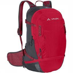 Vaude Bike Alpin 25+5 Rugzak Donkerrood/Middenrood