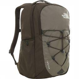 The North Face Jester Rugzak Taupe/Donkergroen