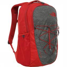 The North Face Jester Rugzak Donkergrijs Mengeling/Rood