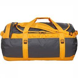The North Face Base Camp Duffel L Donkergrijs/Oranje