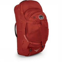 Osprey Farpoint 55 Travelpack Donkerrood/Rood