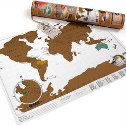 Luckies Scratch Map Wereldkaart Reiseditie Zwart/Goud