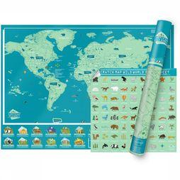 Luckies Wilder World Scratchmap Blauw