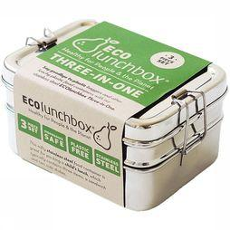 Ecolunchbox Three-In-One Lunchbox Lichtgrijs