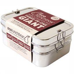 Ecolunchbox Three-in-one Giant Bento Lunchbox Lichtgrijs