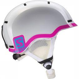 Salomon Grom Helm Junior Wit/Middenroze