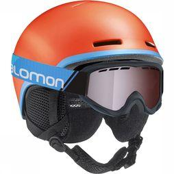 Salomon Grom Helm Junior Oranje/Blauw