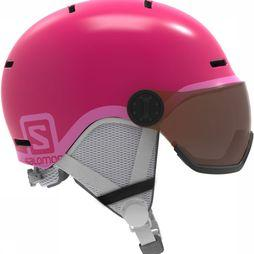 Salomon Grom Visor Helm Junior Middenroze