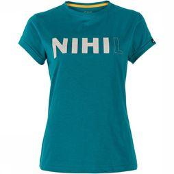 Nihil Pop-Up Shirt Dames  Petrol