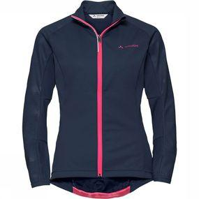 Vaude Resca Light Softshell Jas Dames Donkerblauw
