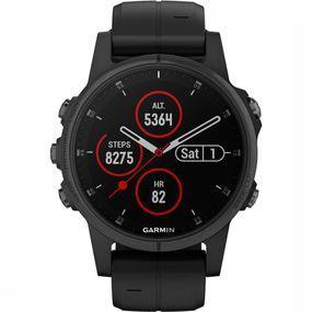 Garmin Fenix 5S Plus Sapphire Horloge Zwart