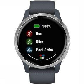 Garmin Venu GPS-Smartwatch Donkerblauw/Zilver