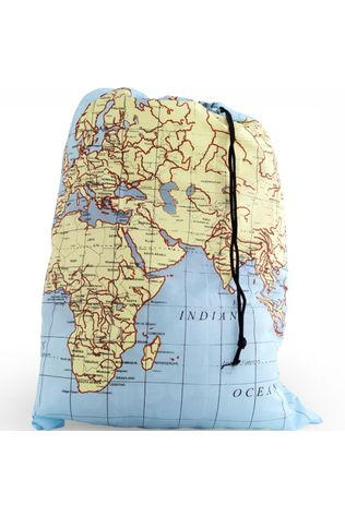 Kikkerland World Map Travel Size Waszak Geen kleur
