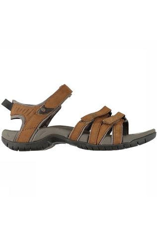 Teva Tirra Leather Sandaal Dames Middenbruin