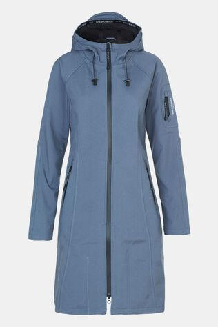 Ilse Jacobsen Long Rain Coat Dames (Softshell-Lange Vorm) Middenblauw