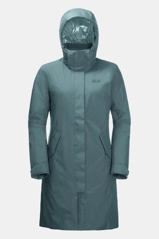 Jack Wolfskin Cold Bay Waterdichte Donsparka Dames Petrol