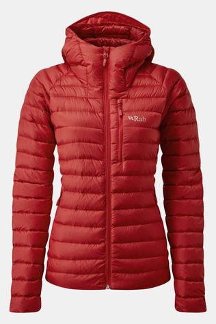 Rab Microlight Alpine Donsjas Dames  Middenrood