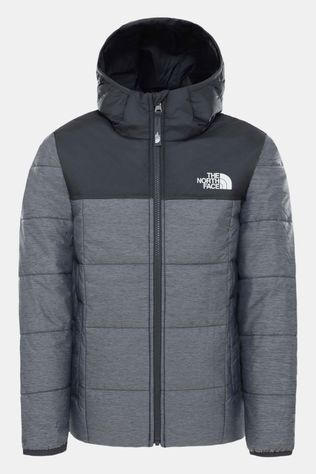 The North Face Omkeerbare Perrito Jas Junior Lichtgrijs Mengeling/Zwart