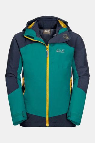 Jack Wolfskin Ropi 3-in-1 Jas Junior Middengroen