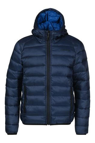 Our Planet Karst Puff Fake Down Hooded Jas Kids Donkerblauw