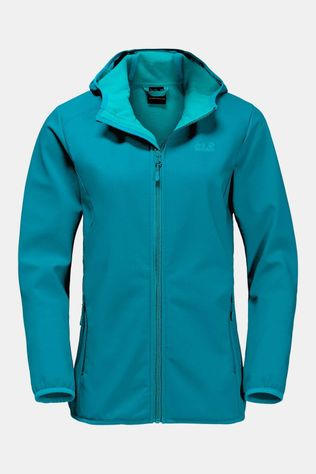 Jack Wolfskin Northern Point Softshell Dames Turkoois/Blauw