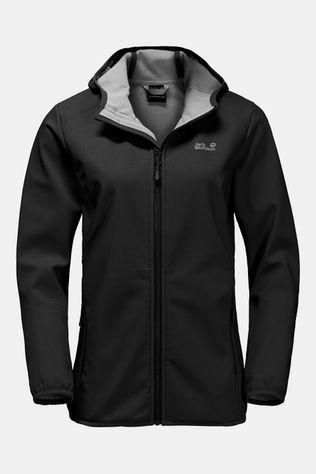Jack Wolfskin Northern Point Softshell Dames Zwart/Donkergrijs