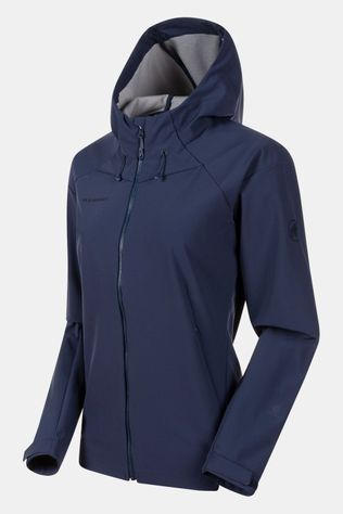 Mammut Sapuen SO Hooded Softshell Jas Dames Indigoblauw